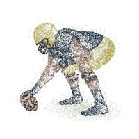 Abstract american football player of colorful circles. Vector illustration.