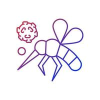 Insects gradient linear vector icon. Dangerous poisonous bugs spread diseases. Blood infection. Biological risk. Thin line color symbols. Modern style pictogram. Vector isolated outline drawing