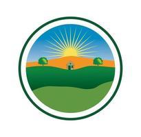 Farm logo design illustration , suitable for your design needs, T-shirt, logo, illustration, animation, etc. vector