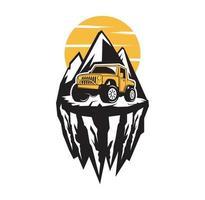 Extreme offroad vehicle design illustration vector eps format , suitable for your design needs, logo, illustration, animation, etc.