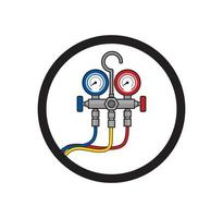 Manometer pressure gauge design illustration vector eps format , suitable for your design needs, logo, illustration, animation, etc.