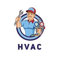 HVAC character logo design illustration vector eps format , suitable for your design needs, logo, illustration, animation, etc.