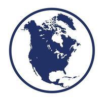 Globe america island map design illustration vector eps format , suitable for your design needs, logo, illustration, animation, etc.