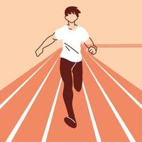 hombre avatar corriendo diseño vectorial vector