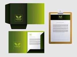 corporate branding identity mockup in white background vector