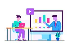 Employee Training Education vector