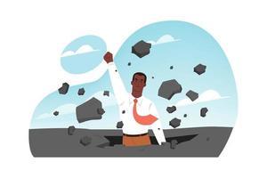Business startup success financial breakthrough vector