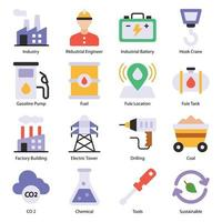 Industry Flat icons Set vector