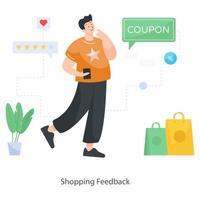 Shopping Feed back vector