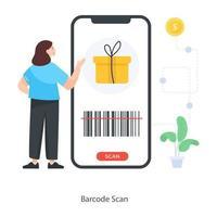 aplicación de escaneo de código de barras vector
