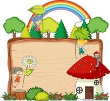 Fairy tale banner template vector