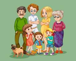 Happy family member cartoon character vector