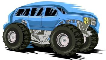 monster truck off road hand drawing vector
