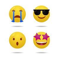 Set of smiley or emoticon vector design vol 04