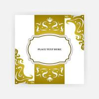 Elagant wedding invitation card cover design vector