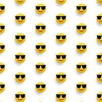 Sticker emoticon pattern design background concept vector