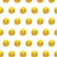 Smiley or emoticon pattern design background concept vector