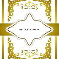Elegant gold and white wedding card design concept vector