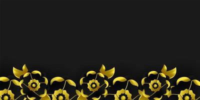 Luxury black and gold background design concept vector