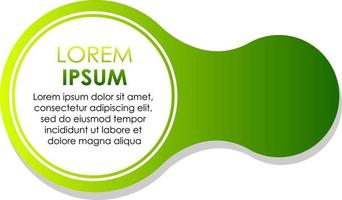 Circle green gradient abstract banner template vector