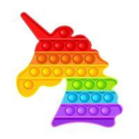 Pop It fidget unicorn. Antistress. Toy icon, trend. Vector illustration isolated on white background