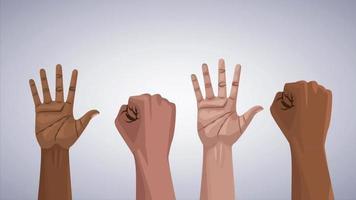 preto assuntos vivos param racismo ilustração ui efeitos vfx video