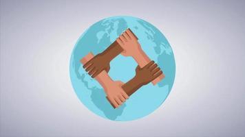 Arrêtez les signes de racisme face à des séquences vidéo de concept de société de poing video