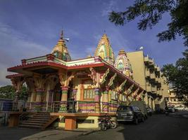 Pune, India, Jun 02, 2021 - Colorful temple at a temple complex photo