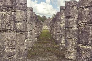 Column corridor of the Temple of the Warriors photo