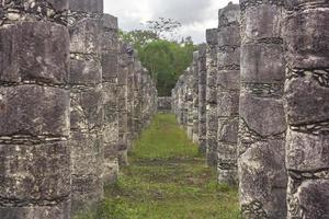 Column corridor of the Temple of the Warriors 4 photo