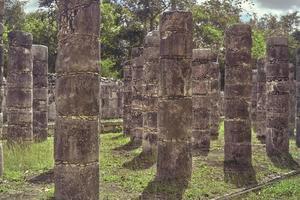 Column corridor of the Temple of the Warriors 5 photo