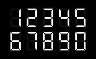 A set of all digital numbers for compiling a computer number. Vector Illustration