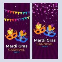 Fondo de fiesta de carnaval de Mardi Gras. ilustración vectorial vector