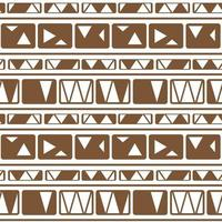 Horizontal vector brown white monochrome winter abstract geometric seamless pattern. Tribal illustration contains lines, rectangles like wall bricks, triangles, print stripes for textiles or wallpaper