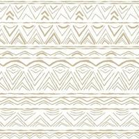White and Beige horizontal Seamless repeat pattern with random rough, twisted part of triangles or broken lines, part of circles shapes vector