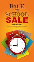 Back to School Special Offer Sale Background. Vector Illustration