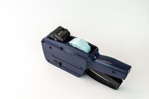 máquina de precios de cinturón azul y negro foto