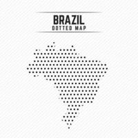 Dotted Map of Brazil vector