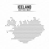 Dotted Map of Iceland vector
