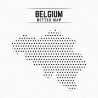Dotted Map of Belgium vector
