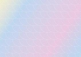 pastel japanese themed pattern background vector