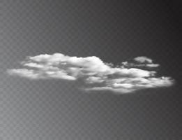 Realistic 3D white clouds isolated on transparent background. vector illustration EPS10
