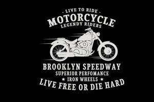 motociclistas legendarios color crema vector