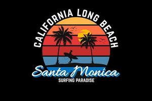 california long beach silhouette design vector