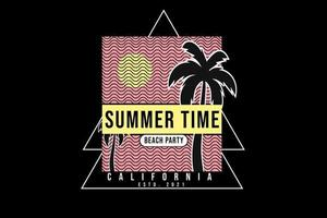 summer time beach party silhouette design vector