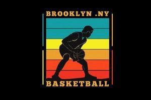 brooklyn basket ball silhouette  design vector