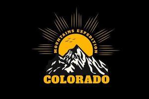 mountain expedition colorado silhouette vector