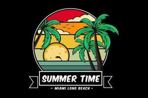 summer time miami long beach illustration  design vector