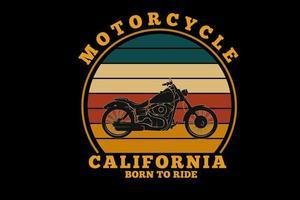 motorcycle california   silhouette design vector