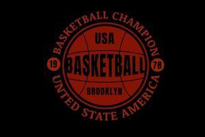 campeón de baloncesto color rojo vector